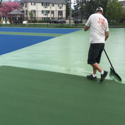 Adding a second green layer of paint