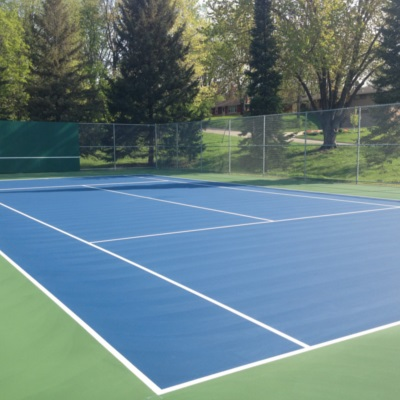 Green and Blue Tennis Court