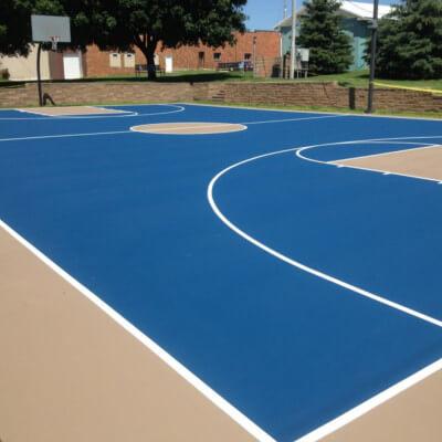 Park tennis court in Iowa