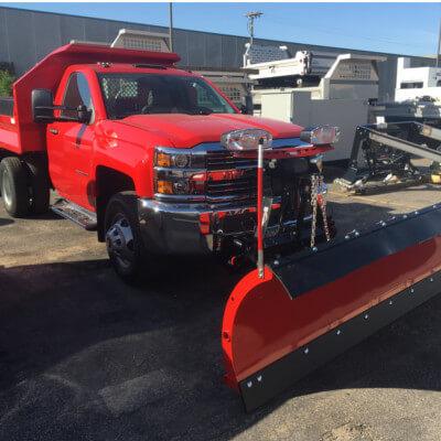 C & H Sport Surfaces, Inc. plow truck.