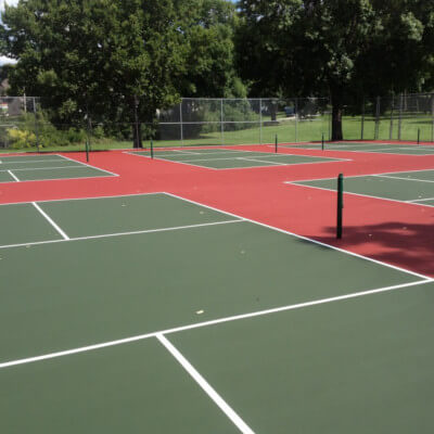 Set of six 6 pickleball courts